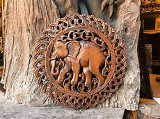 buy lucky elephant wood carving wall paneling