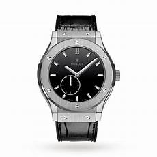 hublot classic fusion ultra thin titanium black shiny dial 515 nx 1270 lr 45mm luxury watches