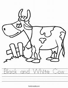 black and white cow worksheet twisty noodle