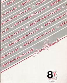 free car repair manuals 1988 pontiac bonneville electronic valve timing 1988 pontiac bonneville factory service manual