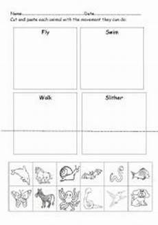 animal movement worksheets 13953 worksheet animals movements
