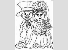 Matrimonio, Disegni per bambini da colorare