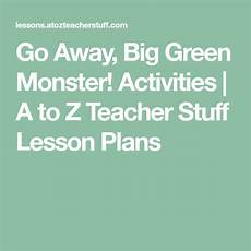 worksheets printable 15561 go away big green activities a to z stuff lesson plans big green