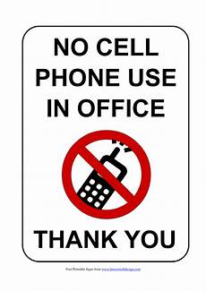 no mobile phone signs poster template