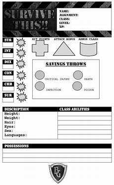 survive this zombies character sheet free bloat