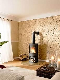 w 228 nde im naturstein look in 2019 steinwand wohnzimmer wandsteine und kamin wand
