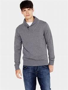 hilfiger hilfiger mens shawl neck sweater in