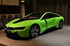 individual bmw i8 shows up dressed in lime green in abu