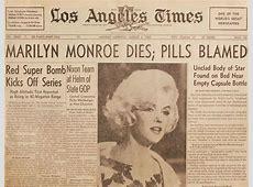 why did marilyn monroe die