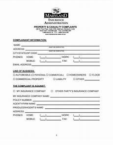 maryland insurance commissioner complaint