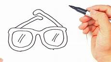 How To Draw A Glasses Glasses Easy Draw Tutorial