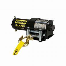 chion power equipment 2000 lbs atv utv winch kit with accessories 12003 the home depot