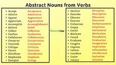 abstract nouns from verbs grammaredge