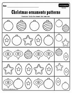 preschool christmas patterns activities for fun holiday math lessons