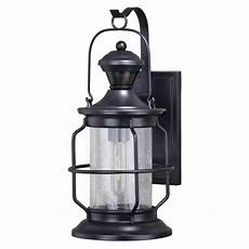 patriot lighting 174 dualux black outdoor motion sensor security wall light at menards 174