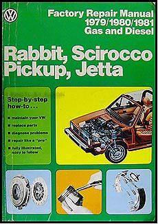 how to download repair manuals 2008 volkswagen rabbit engine control 1979 1981 vw rabbit scirocco pickup jetta factory repair shop manual