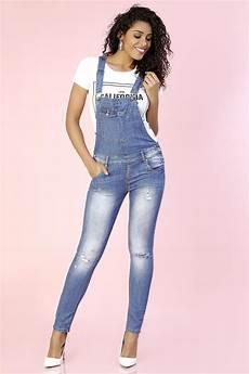 jean a bretelle femme salopette pantalon en jean salopet
