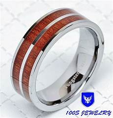 8mm mens tungsten carbide inlay wedding band engagement ring size 8 12 ebay