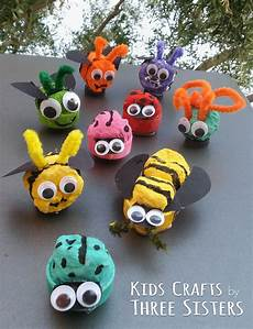 Basteln Mit Flaschendeckeln - recycled bug magnets family crafts