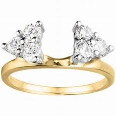 14k yellow gold wedding ring wrap 0 3 crt cubic zirconia accessories to die for