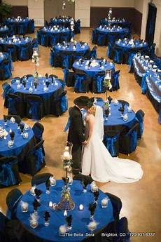 package dinner reception in royal blue black black wedding themes blue wedding