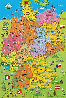 Kinder Malvorlagen Deutschlandkarte Puzzle 200 Teile Quot Deutschlandkarte Mit Bildern Quot