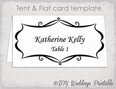 place card template tent and flat name card templates
