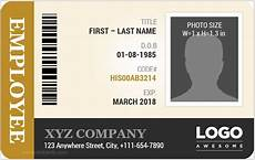 employee i card template employee id card templates microsoft word id card templates