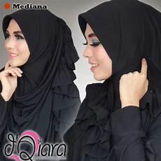 Jilbab Pashmina Warna Hitam Muslimah