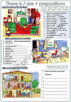 grammar worksheet there is there are with prepositions 25093 practice there is are and prepositions of place prepositions grammar learn