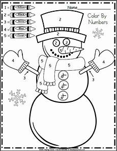 free kindergarten math worksheets for january color by
