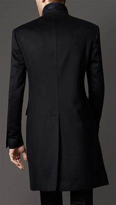 top coats for burberry wool top coat in navy blue for