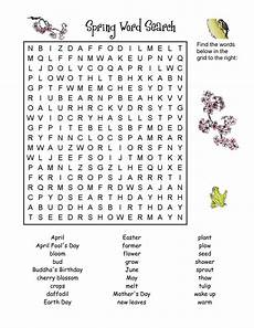 7 printable spring word searches kitty baby love