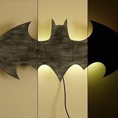 batman battered finish led sign wall art handmade from mdf unique bat symbol wall led