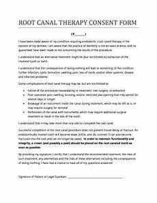 root canal consent form fillable printable online