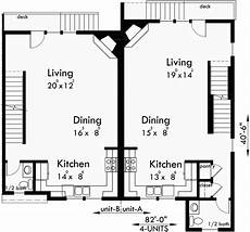 4 plex house plans four plex house plans 4 unit multi family house plans f 558