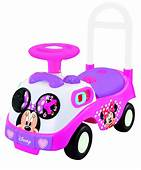 My First Minnie Mouse Ride On Kiddieland Car Driving Pink