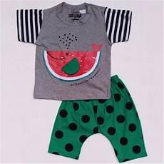 setelan anak baju semangka jual baju setelan anak bayi laki cowok paus semangka celana polkadot 1115 di lapak vera beliko
