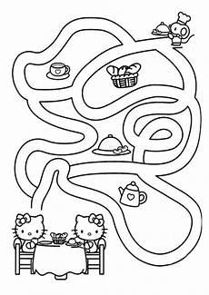Kinder Malvorlagen Labyrinth Labyrinthe 2 Malen Nach Zahlen