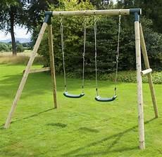 rebo venus wooden garden swing set double swing ebay