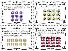 writing multiplication stories worksheets 22273 multiplication array task cards words word problems and cards