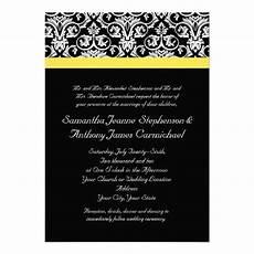 black white and yellow wedding invitations 17 best images about black and yellow wedding invitations