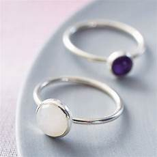 vibrant sterling silver gemstone stacking ring by alison
