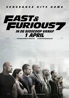 affiche fast and furious fast furious 7 poster paulwalker vindiesel