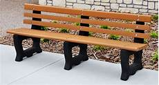 recycled plastic outdoor bench with arched frames