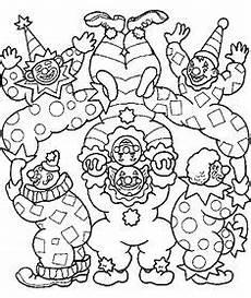 Ausmalbilder Fasching Erwachsene Faschingsbilder Mandala Clown Ausmalen Children Print