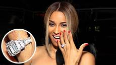 check out ciara s 15 carat engagement ring entertainment tonight