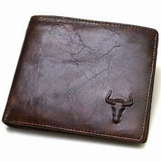 new genuine leather mens wallet zipper coin purse vintage