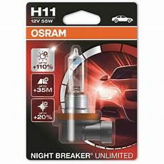 h11 osram breaker unlimited 12v 55w headlight bulb