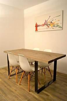 brute de décoffrage table bois metal tables table salle 224 manger table